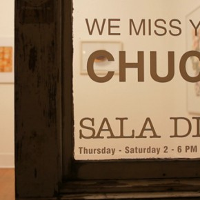 We Miss You Chuck, an exhibition at Sala Diaz