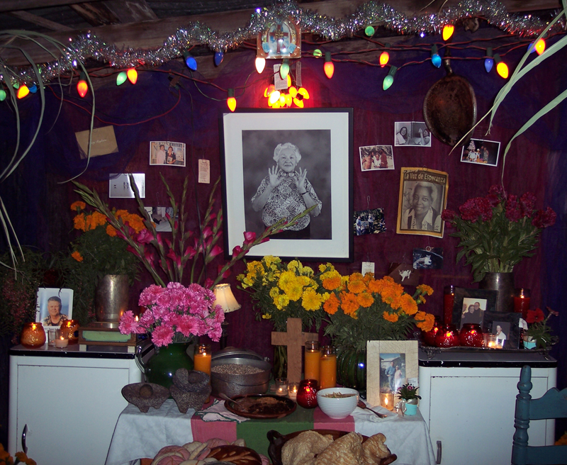 Chuck's 2009 Offrenda for his Grandmother Lydia Ramirez, Photograph by Mary Durocher.